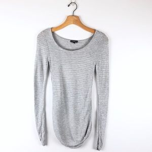 EXPRESS gray open knit lightweight sweater, sz xs